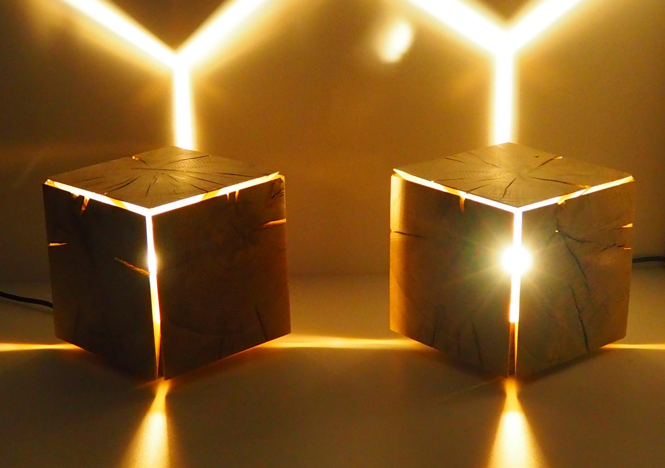"""cube lumineux """"poutre"""""""